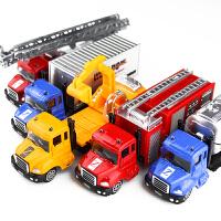 北国E家玩具迷你合金车 挖掘机开窗彩盒包装9个款式合金车模