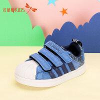 【1件2折后:39.6元】红蜻蜓儿童棉鞋男童冬季新款保暖女中大童保暖潮二棉板鞋