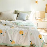 多喜爱新品全棉空调被纯棉夏季薄被子夏被盖被夏凉被薄气泡桃子
