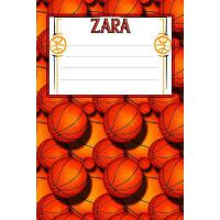 【预订】Basketball Life Zara: College Ruled Composition Book