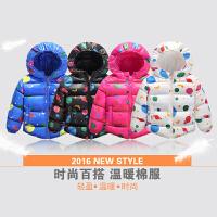 2017冬季新款韩版宝宝童装棉服连帽儿童棉袄男童女童卡通