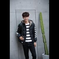 冬季新款男士羽绒服男装中长款青年韩版连帽外套大衣一件8018