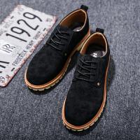 男鞋春季休闲马丁靴低帮工装鞋潮流时尚英伦防水耐磨韩版大头皮鞋