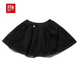 季季乐童装黑色短裙冬女中大童休闲短裙裙子春秋GQQ61190