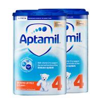 【4段普通】保税区发货 英国Aptamil爱他美 英爱普通婴儿奶粉 四段(2岁以上) 800g*2罐 海外购