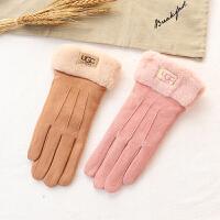 触屏手套女冬季可爱学生保暖五指骑车行户外