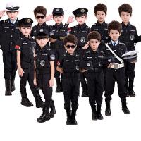 儿童演出服套装男孩公安警长服装幼儿园警官服