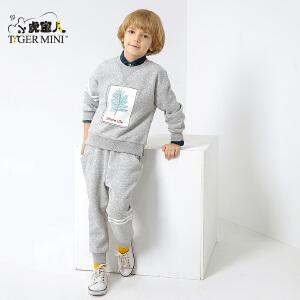 小虎宝儿童装儿童卫衣套装男1一3岁 男童加绒加厚2018春冬新款潮