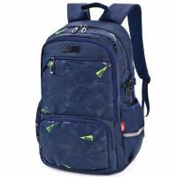 迪士尼书包 中小学生分格背包 0027学生休闲双肩包 深蓝色旅行包
