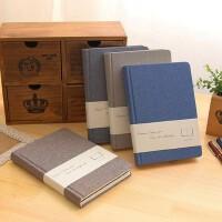 金谷品质生活布面空白纸创意复古笔记本记事本日记本简约收账本子