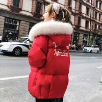 №【2019新款】女式羽绒服短款胖MM2018新款韩版小个子连帽宽松时尚加厚外套冬
