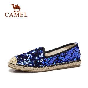 骆驼牌女鞋新款镶钻单鞋 舒适百搭懒人鞋 老北京布鞋韩版潮