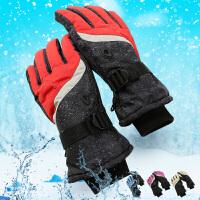冬季男女士大码加厚骑行骑摩托车加厚棉防滑保暖防风防水滑雪手套