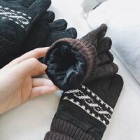 加绒皮手套男冬加厚防寒保暖男士棉手套冬季真皮手套骑车秋冬防风