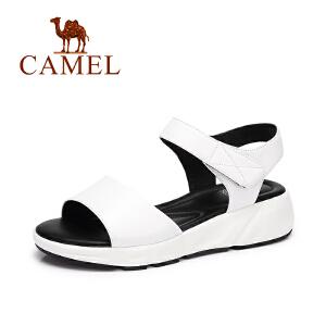 Camel/骆驼女鞋 夏季新款 简约魔术贴舒适防滑鞋松糕凉鞋
