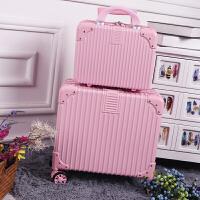 时尚18寸可爱登机箱迷你行李箱女16寸小清新皮箱拉杆箱复古旅行箱