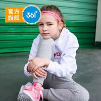 【下单立减价:80.6】361度童装 女童针织长裤2019年秋季新品轻薄针织裤运动裤N61933551上