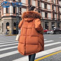 【拒绝套路,底价包邮】冬季新款原宿风羽绒棉衣女中长款加厚bf面包服棉服外套潮