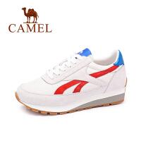 Camel/骆驼女鞋 秋季新款板鞋女百搭耐磨拼色时尚运动休闲鞋