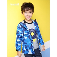 【折后价:200】安奈儿童装春季款男童中大童休闲外套风衣外套EB815110