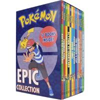Pokemon Epic Collection 精灵宝可梦大冒险12册盒装 儿童初级章节书 桥梁书 英文课外阅读读物 英