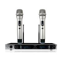 K6 电视电脑k歌 U段调频无线话筒麦克风 ktv套装乐视