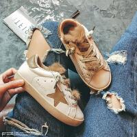 儿童鞋星星鞋加绒保暖板鞋女童小白鞋