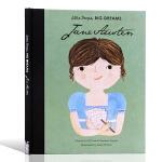 英文原版绘本 Little People Big Dreams 小人物大梦想之小女孩传记Jane Austen 精装名