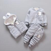男女宝宝秋冬装儿童卫衣套装三件套