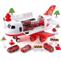 消防车模型合金男宝宝玩具车套装各类车男孩大号飞机
