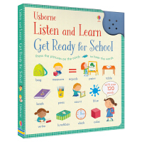 Usborne Listen And Learn Get Ready For School 校园场景认知 幼儿英语单词