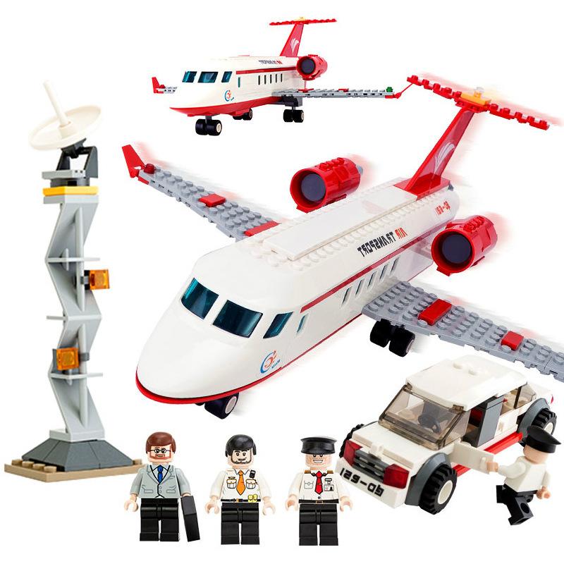 古迪gudi航空私人飞机 启蒙益智组装拼插拼装塑料积木玩具8911