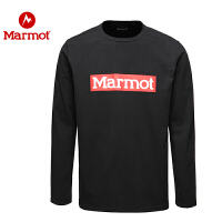 Marmot/土拨鼠春夏户外男士柔软舒适弹性长袖棉薄款T恤