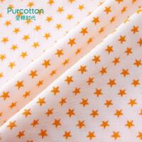 全棉时代 婴儿纱布三角巾宝宝口水巾42x30cm2条装青柠+橙星星