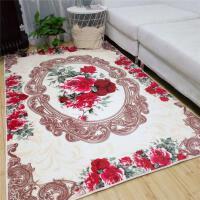 北欧客厅地毯美式田园沙发茶几毯卧室床边满铺地垫短毛绒门垫