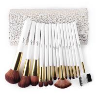 罗马风情15支化妆刷套装 纤维毛全套彩妆工具 白色 白色 人造纤维