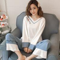 甜梦莱睡衣女士春秋季纯棉长袖可爱薄款两件套装韩版清新学生冬天家居服
