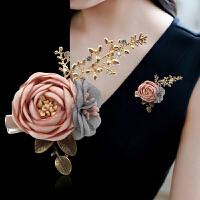 简约百搭西装配饰韩国胸花布艺花朵胸针女气质别针外套开衫装饰
