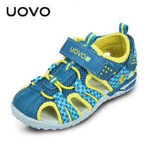 【开学季1件2折价:79元】UOVO 新款儿童凉鞋夏季包头沙滩鞋小大童男童鞋女童鞋潮包头凉鞋塔希提