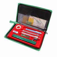 英雄H252组合制图仪 学生实用绘图套装 建筑工程绘图包 绿色布包