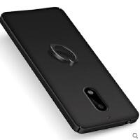 诺基亚6手机壳 诺基亚6全包手机壳 保护壳 保护套 后壳 硬壳 自带指环扣支架男女生款轻磨砂保护套