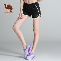 camel骆驼运动 新品女款梭织短裤跑步健身瑜伽运动裤女休闲速干