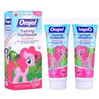 保税区发货 Orajel欧乐 小马宝利无氟可吞咽牙膏 水果味 42.5g*2件 海外购