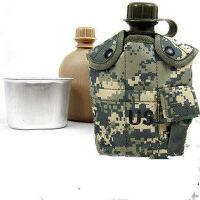 户外军迷水壶1升水壶套装 多功能水壶套装 保暖水壶套+烧水铝饭盒