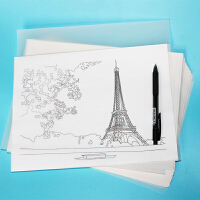 A3A4硫酸纸 临摹纸拷贝描图纸制版转印纸 透明纸 50张/包