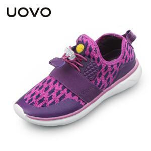 UOVO秋冬新款儿童运动鞋男童运动鞋女童透气轻便中大童鞋防滑运动鞋 日喀则