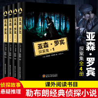 亚森罗宾探案全集4册 扑朔迷离的离奇案件环环相扣的情节发展 侦探推理小说wx
