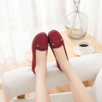 老北京布鞋女中老年人妈妈鞋春秋女款休闲鞋妇女平跟2019奶奶单鞋