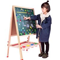 儿童画板双面磁性小黑板支架式家用宝宝画画涂鸦写字板画架可升降