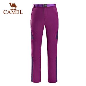 camel骆驼户外女款速干长裤 春夏快干透气徒步登山长裤女